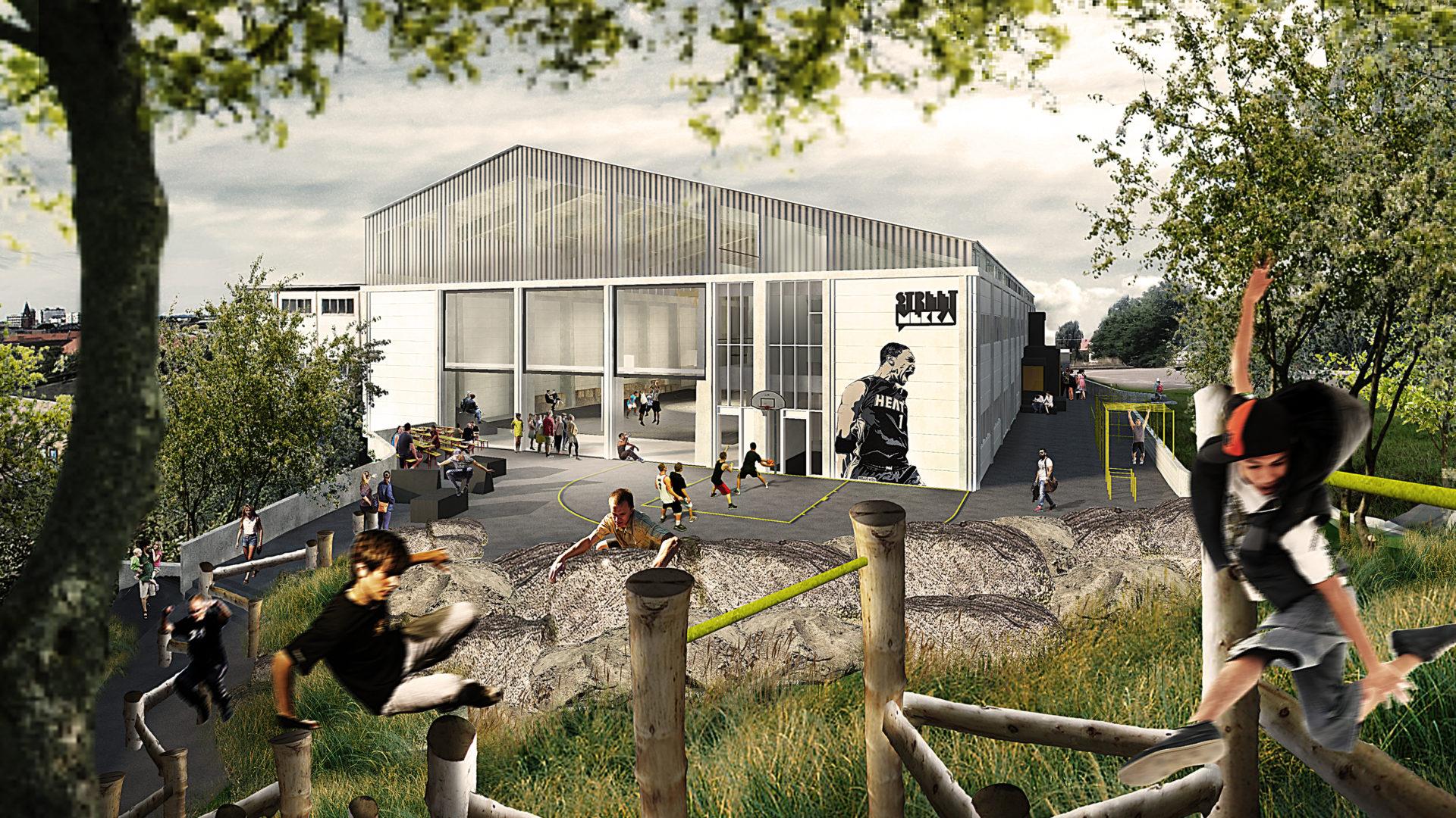 street sports facility architecture